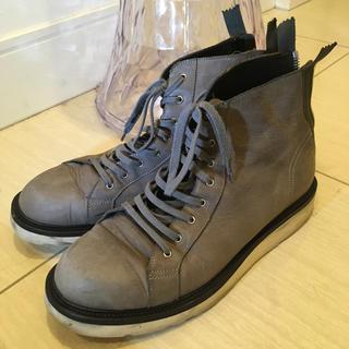 クリスヴァンアッシュ(KRIS VAN ASSCHE)のクリスヴァンアッシュ ブーツ 灰 42(ブーツ)