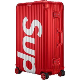 シュプリーム(Supreme)のsupreme RIMOWA Topas Multiwheel 82L red(トラベルバッグ/スーツケース)