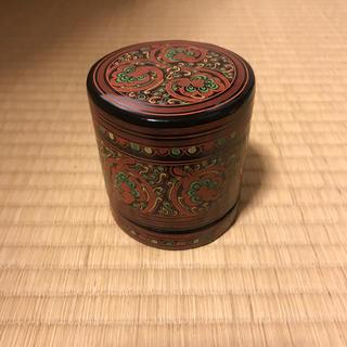 ミャンマー 漆 蒟醤 キンマ 煙草入れ  棗 茶道具(漆芸)