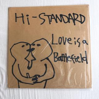 ハイスタンダード(HIGH!STANDARD)の【新品】Hi-STANDARD ラブイズアバトルフィールド アナログ LP(ミュージシャン)