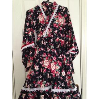 キャサリンコテージ(Catherine Cottage)のキャサリンコテージ 着物ドレス 140 黒(和服/着物)