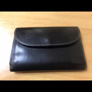 ホワイトハウスコックス(WHITEHOUSE COX)のホワイトハウスコックス 三つ折り財布  ブラック✖︎イエロー(折り財布)