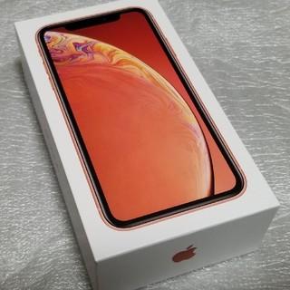 アップル(Apple)の新品 iphone XR 64GB SIMフリー コーラル 送料無料 au (スマートフォン本体)