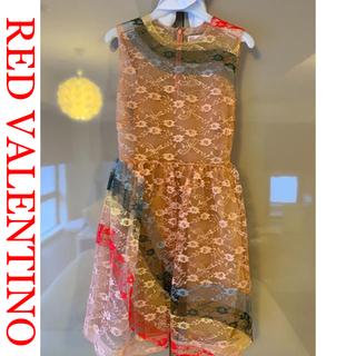 レッドヴァレンティノ(RED VALENTINO)のセール☆極美品☆RED VALENTINO☆とても目を惹く華やかドレス♡(ミニドレス)