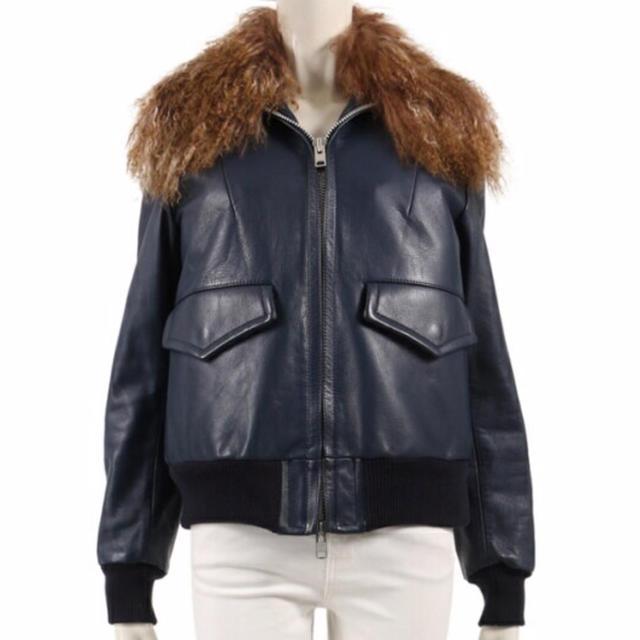 sacai luck(サカイラック)の最終価格 sacai luck レザージャケット ファー メンズのジャケット/アウター(レザージャケット)の商品写真