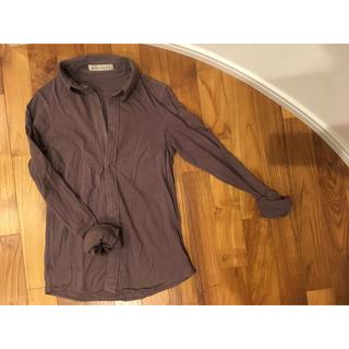 フォーティファイブアール(45R)のダークパープル てろてろシャツ フラップボタン(シャツ/ブラウス(長袖/七分))