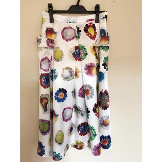 アッシュペーフランス(H.P.FRANCE)の新品未使用 レブリカブラック  matriochka スカート(ロングスカート)