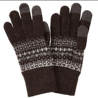 MUJI (無印良品) - スマホok無印良品 ウール混裏起毛タッチパネル手袋 男女兼用!フリーサイズ