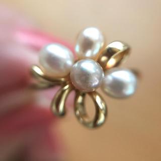 ミキモト(MIKIMOTO)のミキモト  淡水パールの可愛いリング(リング(指輪))