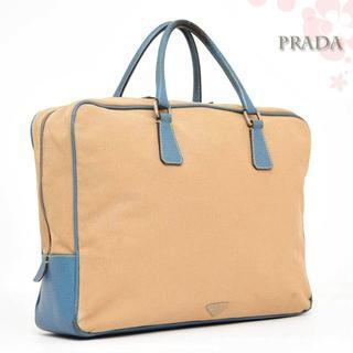 プラダ(PRADA)のプラダ♡ブリーフケースビジネスバッグ◆オレンジベージュ水色PRADA書類鞄(スーツケース/キャリーバッグ)
