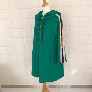 グッチ(Gucci)の新品同様❤️グッチ フード付き ジャージー ドレス ワンピース(ひざ丈ワンピース)