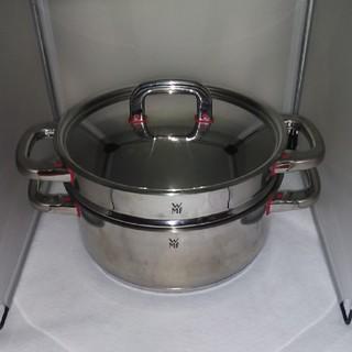 ヴェーエムエフ(WMF)のWMF プレミアムワン ローキャセロール&スチーマーセット 24センチ(鍋/フライパン)