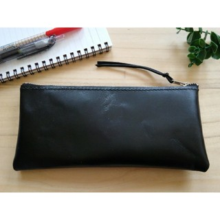 革のペンケース 黒革 シンプルDesign Stylish(その他)