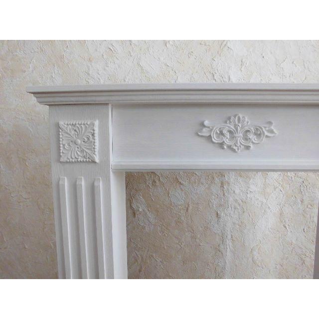 マントルピース飾り棚 W80( 送料込)ピュアw ミルキーw オフホワイト ハンドメイドのインテリア/家具(家具)の商品写真