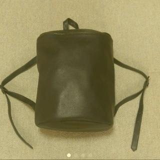 エイソス(asos)のASOS faux leather backpack navy(バッグパック/リュック)