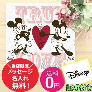 ディズニー(Disney)の箱付き!名前、日付入れ対応★ディズニーミッキーミニーのアートパネル(ウェルカムボード)