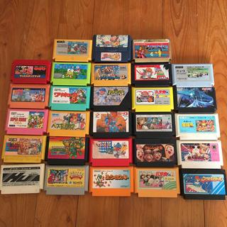 ファミリーコンピュータ(ファミリーコンピュータ)のファミコンソフト 28本(家庭用ゲームソフト)