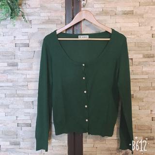 シマムラ(しまむら)のグリーン 丸襟カーディガン(カーディガン)
