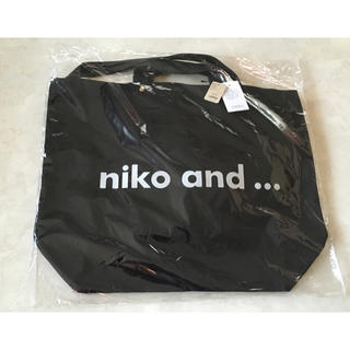 ニコアンド(niko and...)のニコアンド niko and… ニコロゴ トートバッグ 2way 黒(トートバッグ)