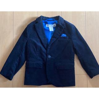 エイチアンドエム(H&M)の新品未使用 H&M キッズジャケット 90 コーデュロイ ネイビー(ジャケット/上着)