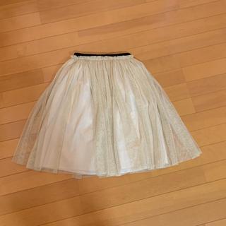 ルシェルブルー(LE CIEL BLEU)のお値下げ☆ルシエルブルー チュールスカート(ひざ丈スカート)