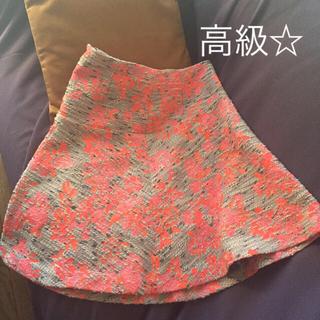 デミルクスビームス(Demi-Luxe BEAMS)の高級☆ビームス デミルクスの花柄スカート♡(ひざ丈スカート)