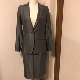 アントニオベラルディ(ANTONIO BERARDI)の極美品BERARDIの高級スーツ サイズ2 グレー ベラルディ(スーツ)