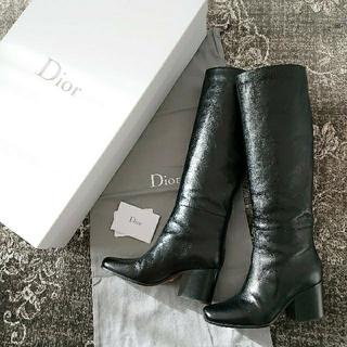 クリスチャンディオール(Christian Dior)の専用🌠DIOR レザーロングブーツ DIORAGE 35ハーフ 美品(ブーツ)