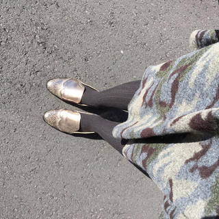カプリシューレマージュ(CAPRICIEUX LE'MAGE)のCAPRICIEUX LE'MAGE もこもこカモフラスカート(ひざ丈スカート)