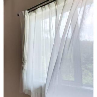ムジルシリョウヒン(MUJI (無印良品))の無印良品防炎メッシュカーテン2枚セット(カーテン)
