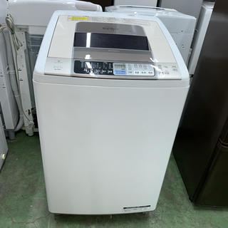 ヒタチ(日立)の⭐︎HITACHI⭐︎全自動洗濯機 8kg 温風乾燥 大阪市近郊配達無料(洗濯機)