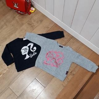 バービー(Barbie)のBarbie♡裏起毛トレーナー♡90 2枚セット(Tシャツ/カットソー)