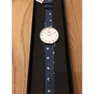 アイスウォッチ(ice watch)の新品未使用 ICE WATCH ドット柄 デニム調 レディース(腕時計)