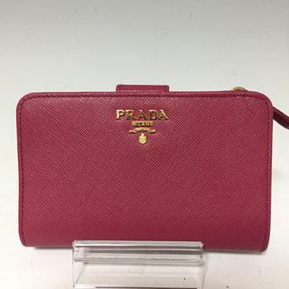45b157559d0a PRADA - PRADA ピンク サフィアーノ 二つ折り財布 L字ファスナー プラダ