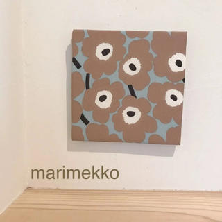 マリメッコ(marimekko)のラスト1点*ファブリックパネル*マリメッコ ミニウニッコ ブルーグレー×ベージュ(ファブリック)