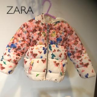 ザラキッズ(ZARA KIDS)のZara Baby*花柄ダウン(ジャケット/上着)