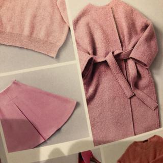 デミルクスビームス(Demi-Luxe BEAMS)のDemi-Luxe BEAMS コクーン コート ピンク 人気 完売 くすみ(ロングコート)