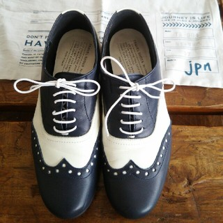 ショセ(chausser)のショセトラベルシューズ36ウィングチップレザー(ローファー/革靴)