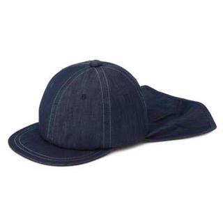 【新品】無印良品 キッズ オーガニックコットン日除け フラップ付キャップ 帽子