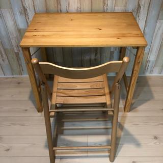 ムジルシリョウヒン(MUJI (無印良品))の無印良品 パイン材 折りたたみ机 椅子(学習机)