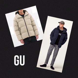 ジーユー(GU)のGU 完売❗️新品・タグ付き✨中綿ブルゾン ダウンジャケット ベージュ M(ダウンジャケット)