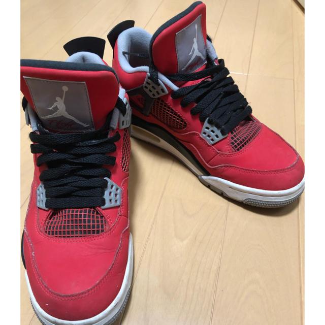 NIKE(ナイキ)のぺろ様専用 ジョーダン4 赤 メンズの靴/シューズ(スニーカー)の商品写真