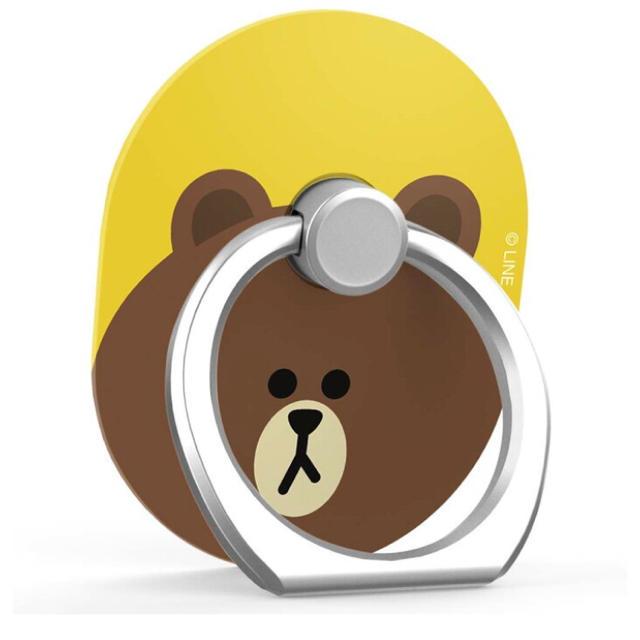 iphone 7 plus ケース かわいい | Spigen - 新品 送料込 LINEキャラクター スマホリング ブラウンの通販 by kaori's shop|シュピゲンならラクマ