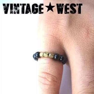 オニキス ピンキーリング指輪◆ブラックxゴールド/GOLD金/黒/新品/天然石(リング(指輪))
