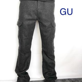 ジーユー(GU)のGU ジーユー ツィードカーゴパンツ(ワークパンツ/カーゴパンツ)