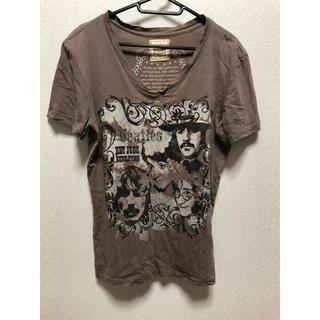 トランクショー(TRUNKSHOW)のTシャツ トランクショー ビートルズ Vネック Sサイズ(Tシャツ/カットソー(半袖/袖なし))