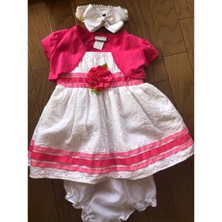 72fe3b5a58247 ジンボリー(GYMBOREE)のハワイ購入 美品 18M 80 ベビードレス セット カーターズ (