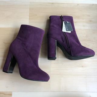 ダイアナ(DIANA)の新品未使用 今期 セレクト メタルパープルスエードブーツ 紫(ブーツ)