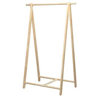 おしゃれ シンプル 木製 ハンガーラック 人気 ウッド 洋服掛け かわいい(押し入れ収納/ハンガー)