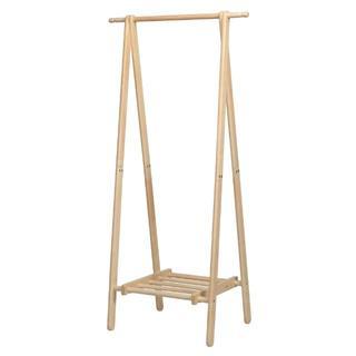 シンプル 木製 ハンガーラック おしゃれ ウッド スリム かわいい 洋服掛け(押し入れ収納/ハンガー)